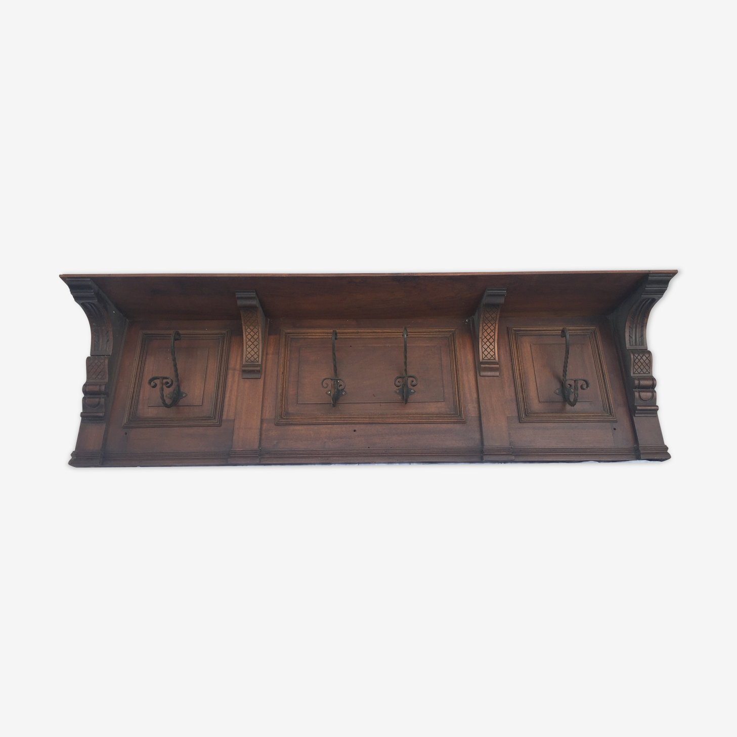 Former coat rack wall decoration woodwork
