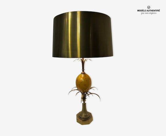 Lampe Ananas De La Maison Charles Xxeme Metal Dore Art
