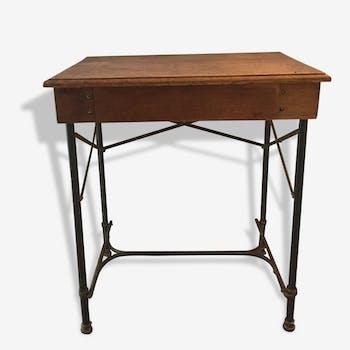 Bureau d'écolier vintage à tiroir