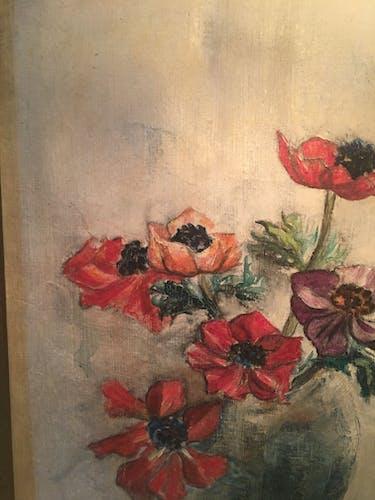 Peinture à l'huile signée encadrée 1951