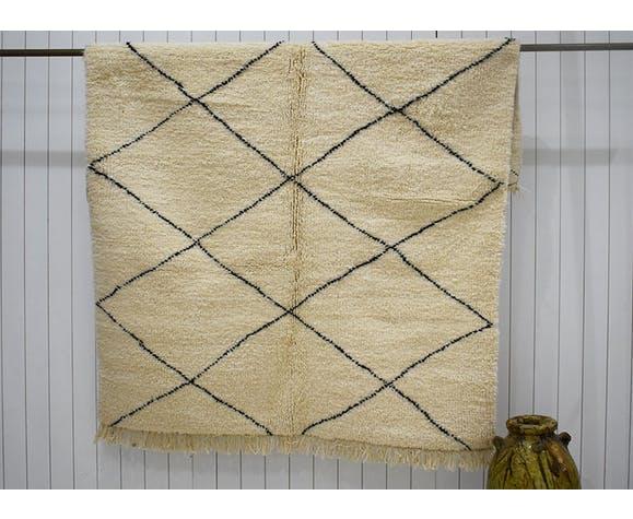 Tapis beni ouarain et losanges 160 x 240 cm