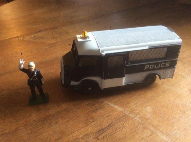 Fourgon police Hy Citroen Meccano, Dinky Toys & figurine policier