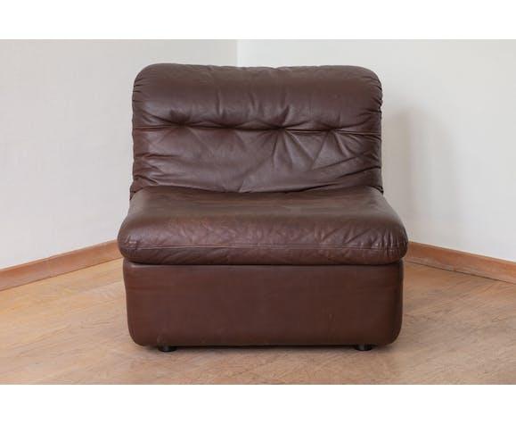 Wk Mobel Modular Brown Leather Sofa By Ernst Martin Dettinger Selency