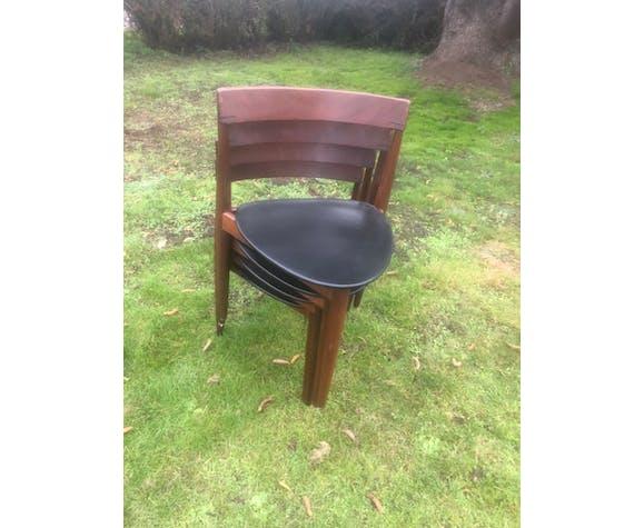 Set de chaises tripode Hans olsen vintage