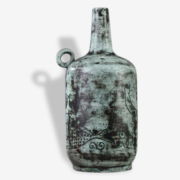 Vase ou pied de lampe en céramique de Jacques Blin