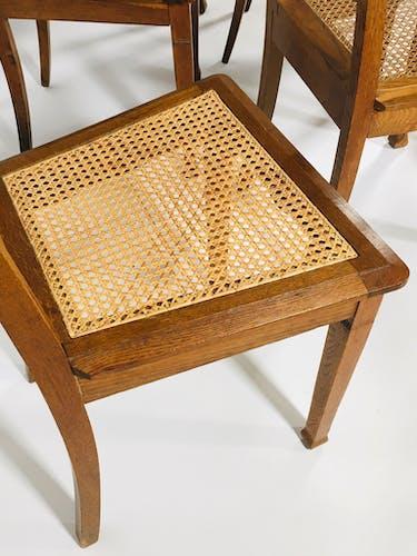 Suite de 6 chaises Art nouveau, école de Nancy