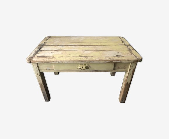 Table basse de ferme, esprit campagne chic - bois (Matériau ...