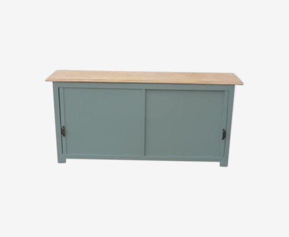 buffet des ann es 60 faible profondeur bois mat riau vert vintage taicihf. Black Bedroom Furniture Sets. Home Design Ideas
