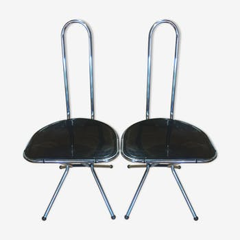 Pair of folding chairs of Niels Gammelgaard