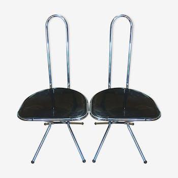 Paire de chaises pliable de Niels Gammelgaard