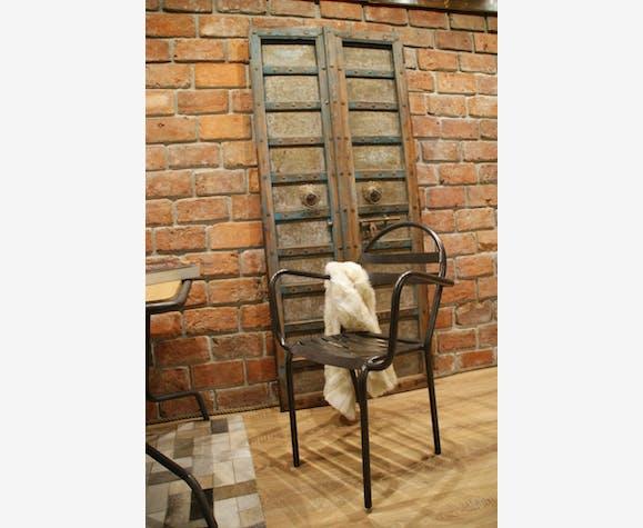 Ensemble de salon de jardin années 50 - métal - bois (Couleur ...