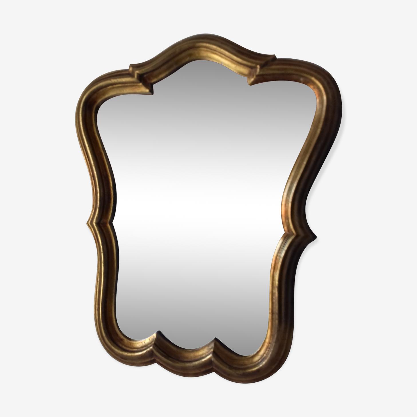 Mirror golden plaster