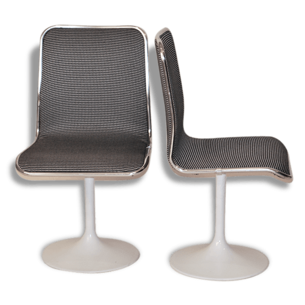 6014 État Design Bureau De Chaise 70 Années Métal Bon CordBeWx