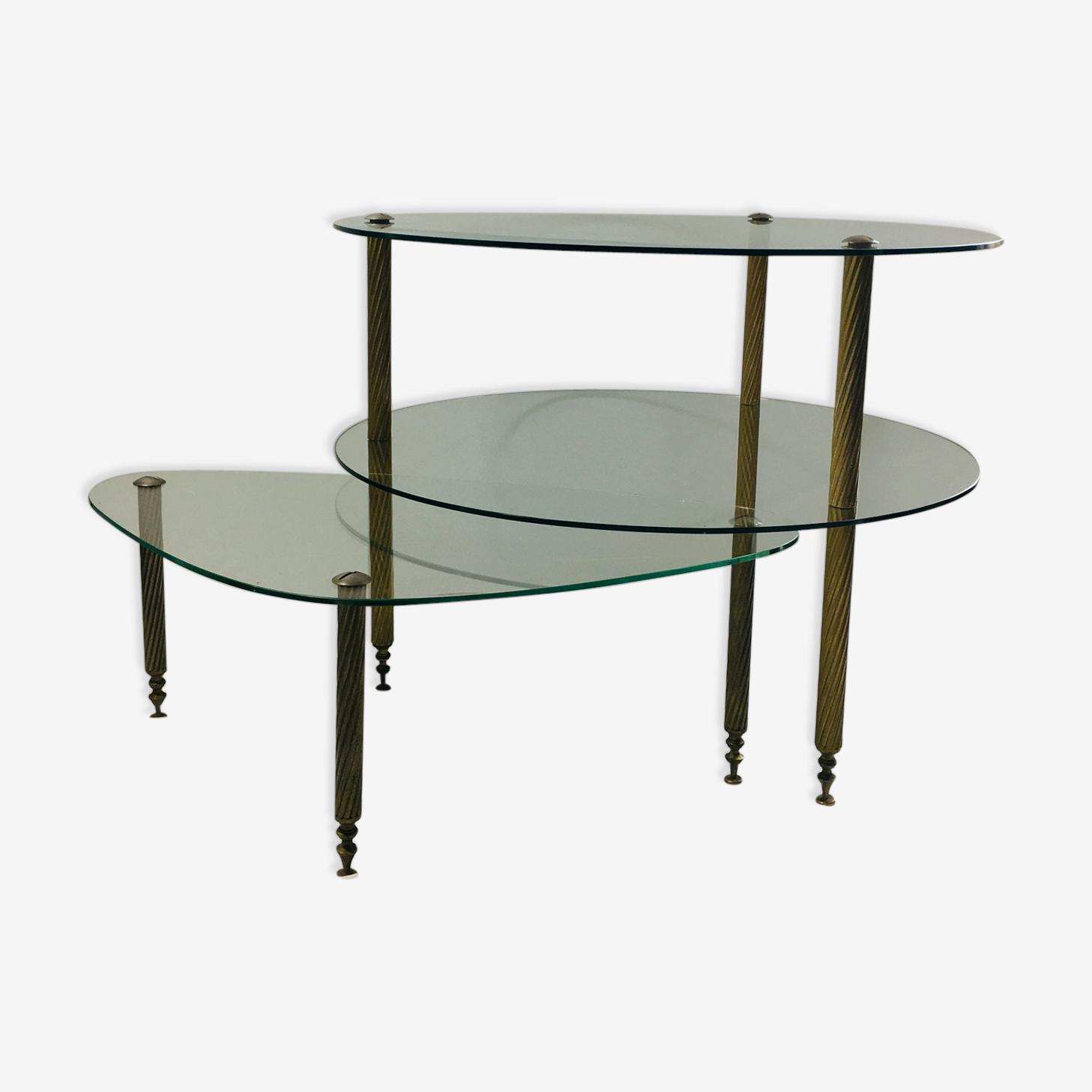 Table basse laiton vintage
