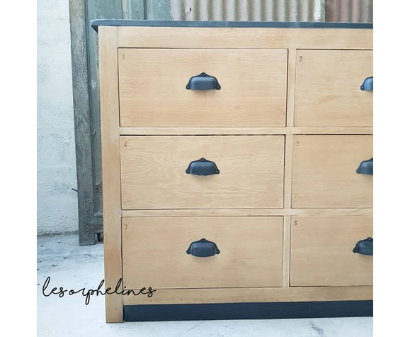Comptoir de mercerie 9 tiroirs