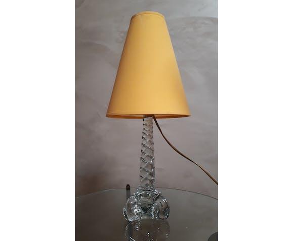 Lampe cristal verre soufflé et étiré Verrerie Paris
