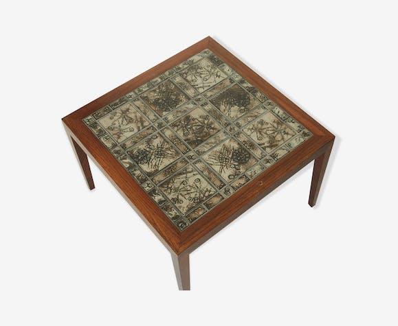 Table basse carré carrelée