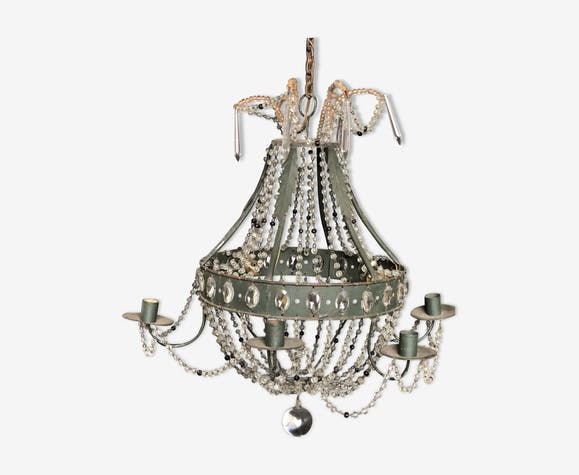 Lustre à perles décoratif