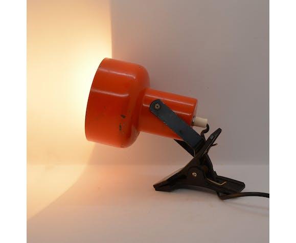 Lampe à pince orange Lidokov, Tchécoslovaquie des années 1970