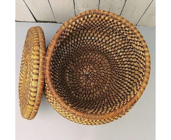 Pan box basket bramble and straw popular art