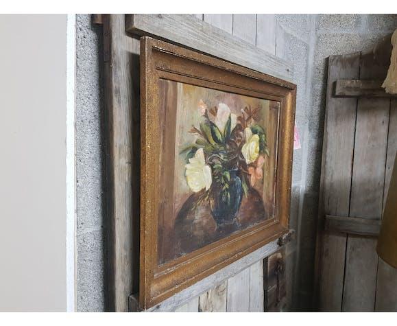 Peinture a l'huile ancienne