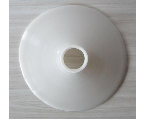 Abat-jour en opaline blanc des années 40
