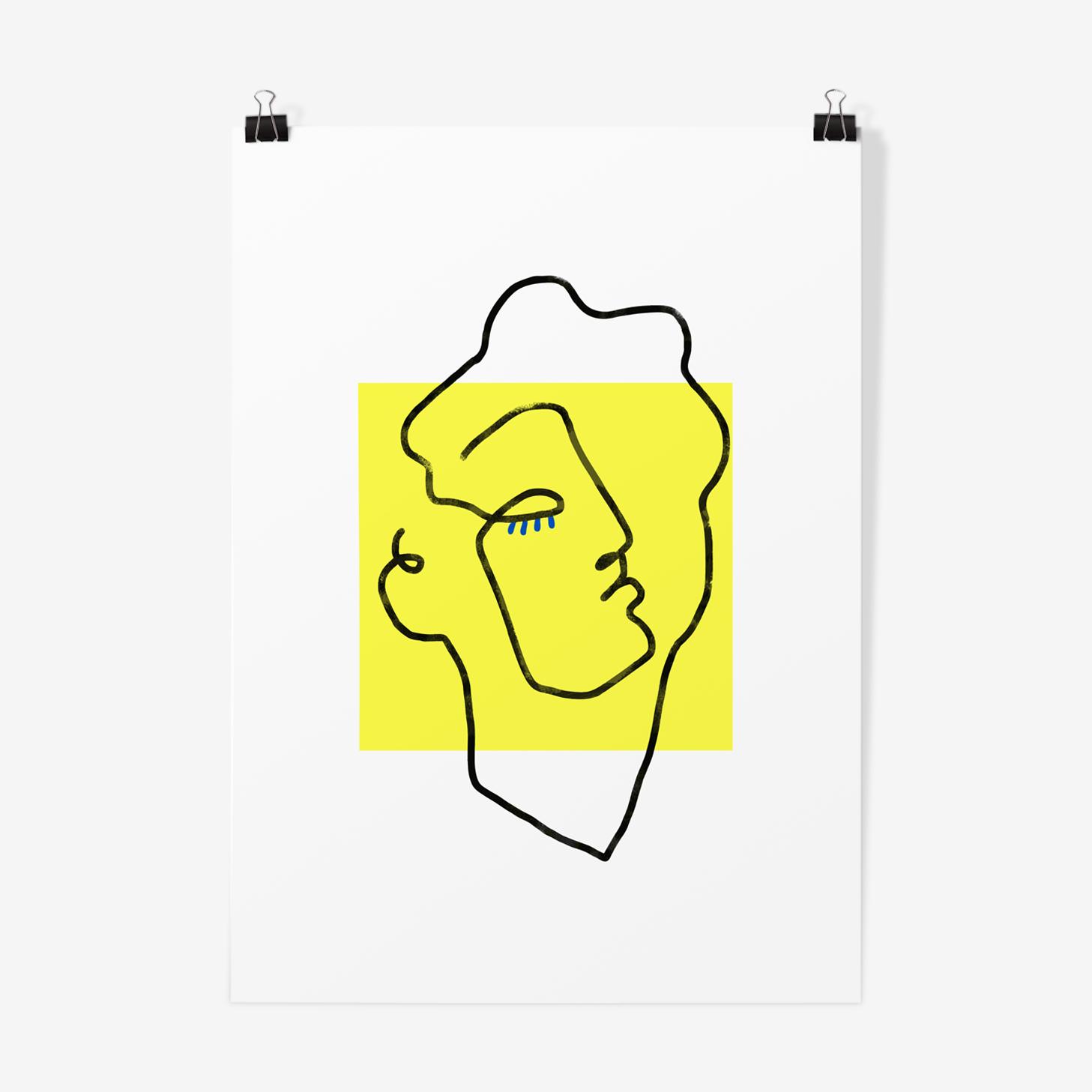 Illustration Apollo yellow-poster A3 29, 7x42cm
