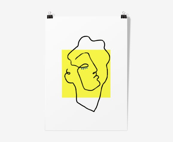 Illustration Apollo yellow-poster A3 29, 7x42cm