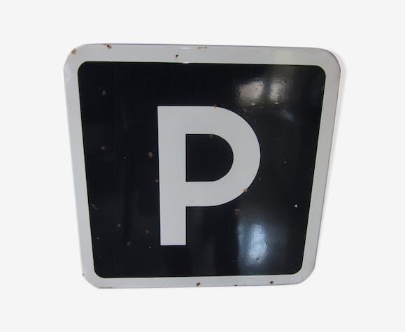 """Plaque emaillée """"parking"""""""