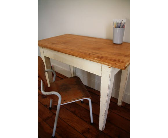Ancienne Petite Table Bureau Enfant Selency