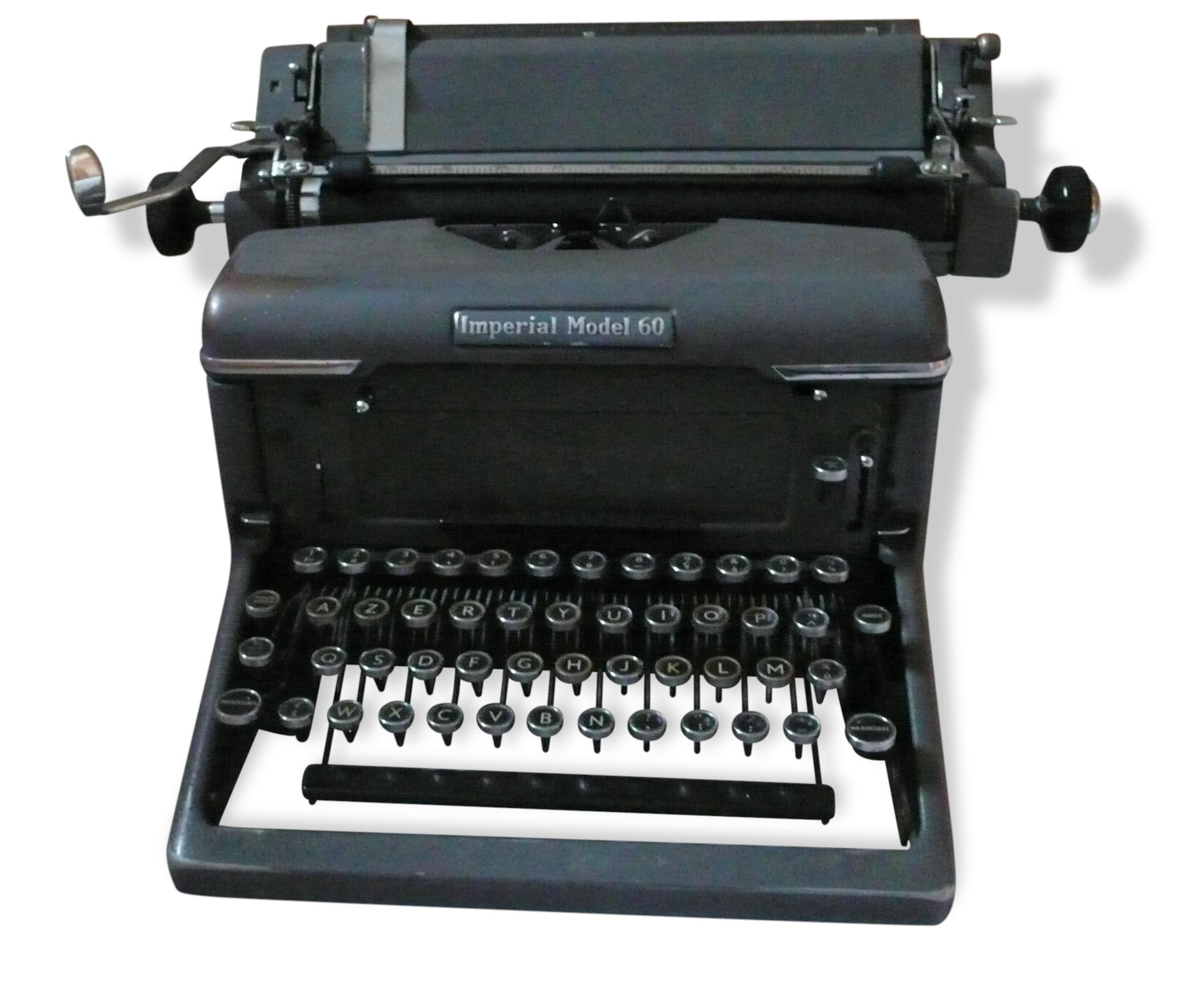 """Machine a ecrire """"imperial model 60"""""""