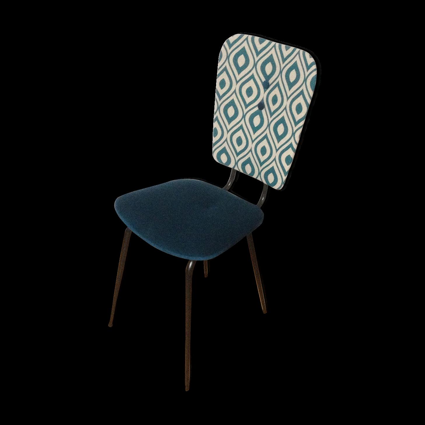 chaise bleu canard blue duck suzie chair u brushed steel. Black Bedroom Furniture Sets. Home Design Ideas