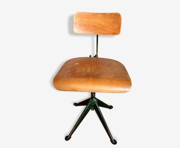 Chaise Industrielle Vintage Jean Prouvé Circa 1920 Bois Matériau