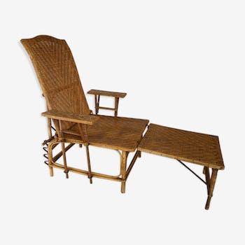 Chaise design industrielle scandinave vintage d 39 occasion for Chaise longue en rotin