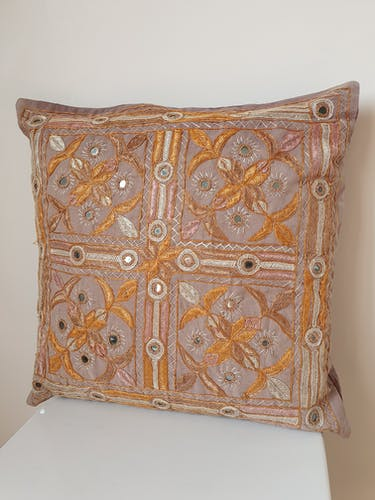 Indian embroidered cushion 40x40cm