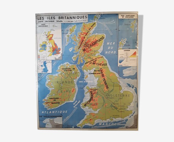 Old school maps of geography mdi edition - paper - multicolour ...