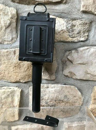 Lanterne de fiacre ou calèche à bougie avec support de fixation