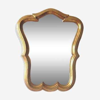 Miroir doré 29x36cm