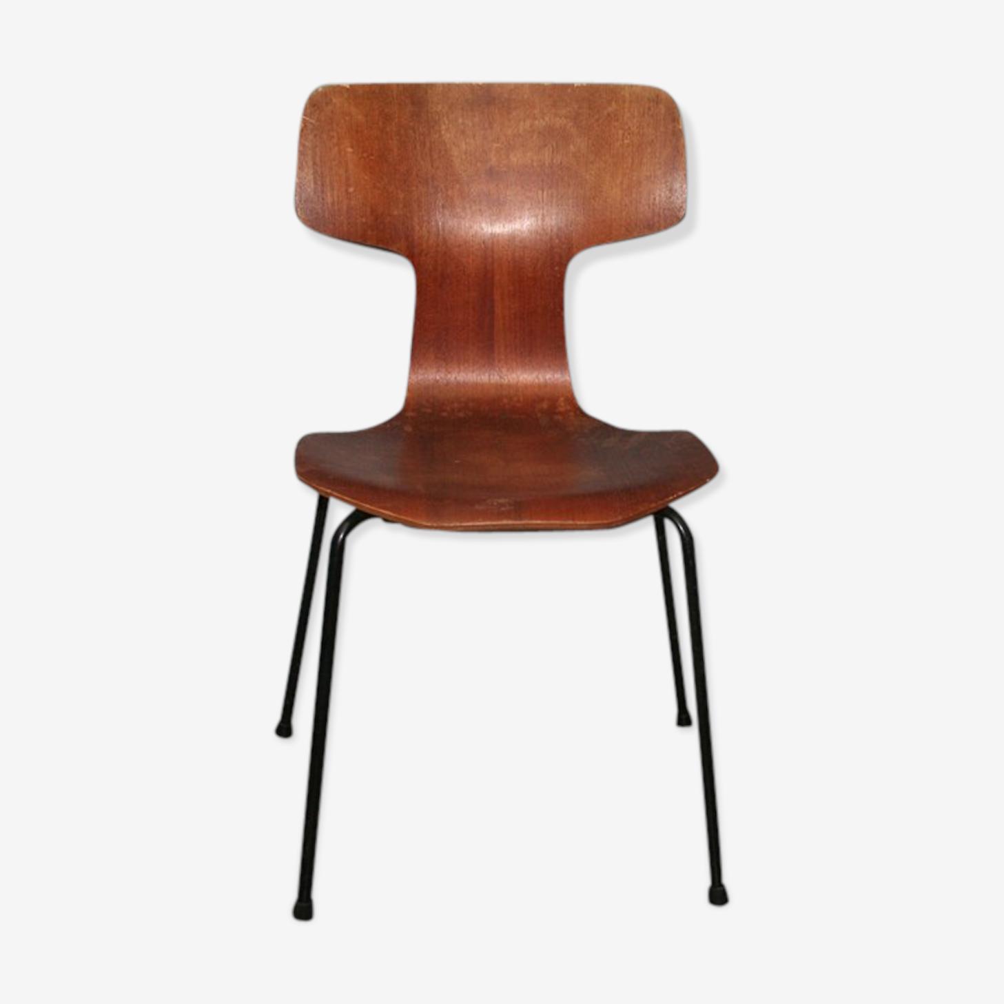 Chaise marteau Arne Jacobsen Fritz Hansen vintage 1969