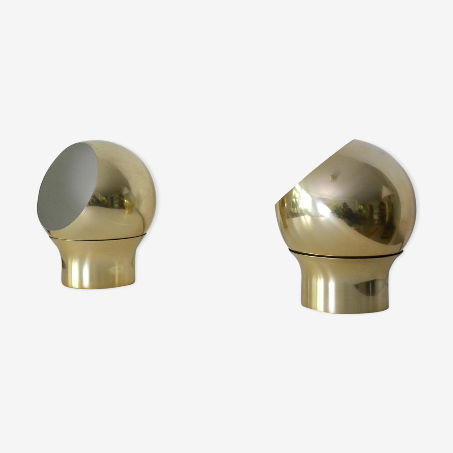 Paire de deux lampes Hemi, Klot de type 3, Suède