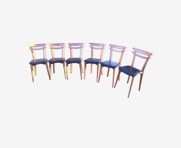 Series of 6 Scandinavian chairs