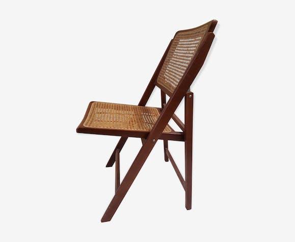Années Et Des Bois 60 Pliante Vintage Chaise Cannage KclF1JuT3