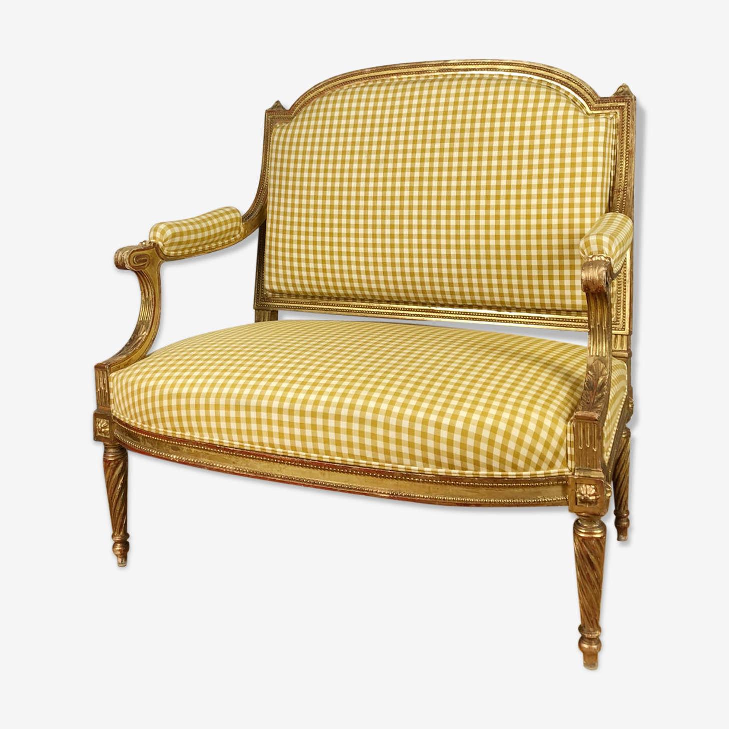 Marquise banquette d'époque Napoléon III de style Louis XVI