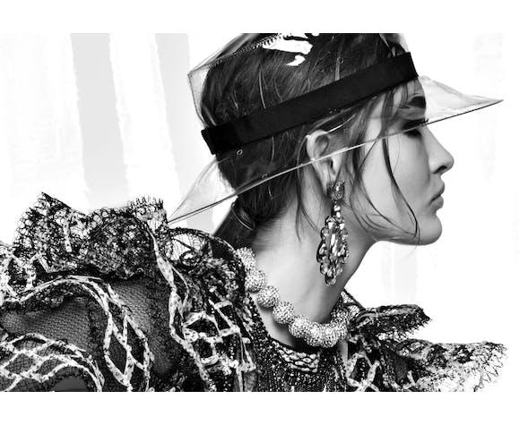 Photo de Karl Lagerfeld pour Chanel, collection 2018