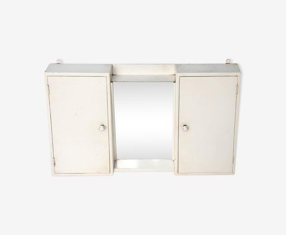 Armoire à pharmacie 2 portes miroir - bois (Matériau) - blanc ...