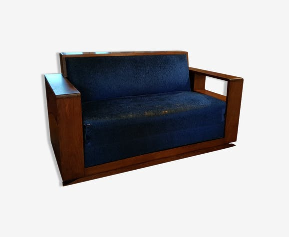 canap convertible art d co ann es 1930 bois mat riau. Black Bedroom Furniture Sets. Home Design Ideas