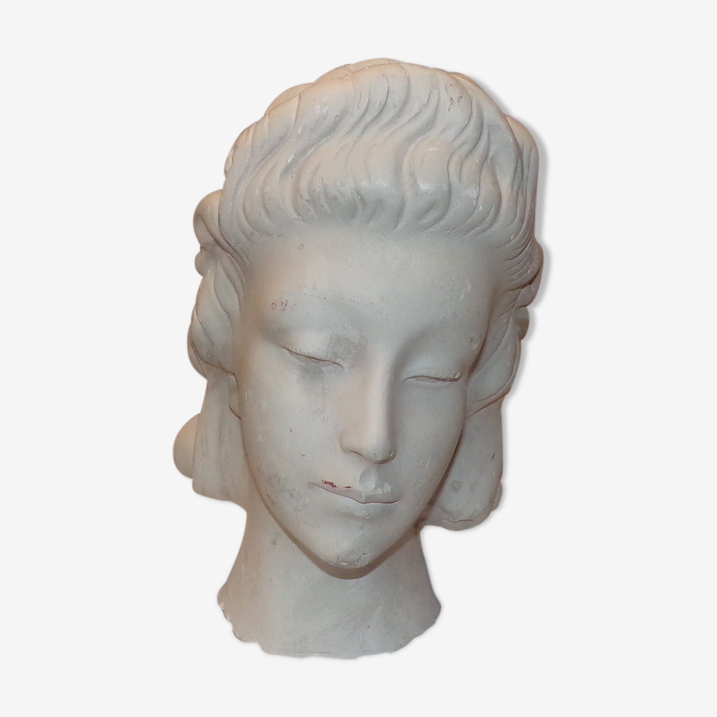 Plaster woman's bust