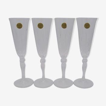 Ensemble de 4 flûtes à champagne