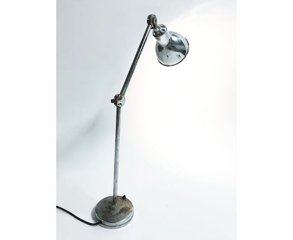 Vintage industrial chrome work light by AGI, 1930s