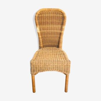 Braided wicker chair